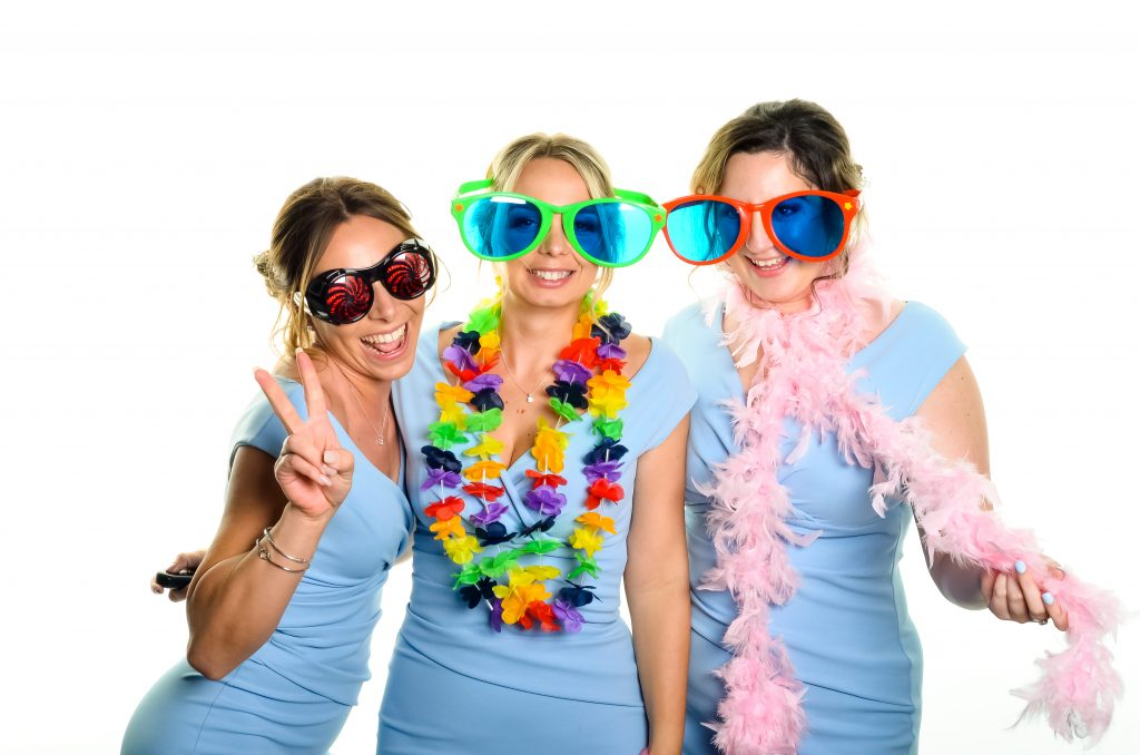 Photobooth images taken at L'Adore Falls, Keswick, Cumbria. Bridesmaids.