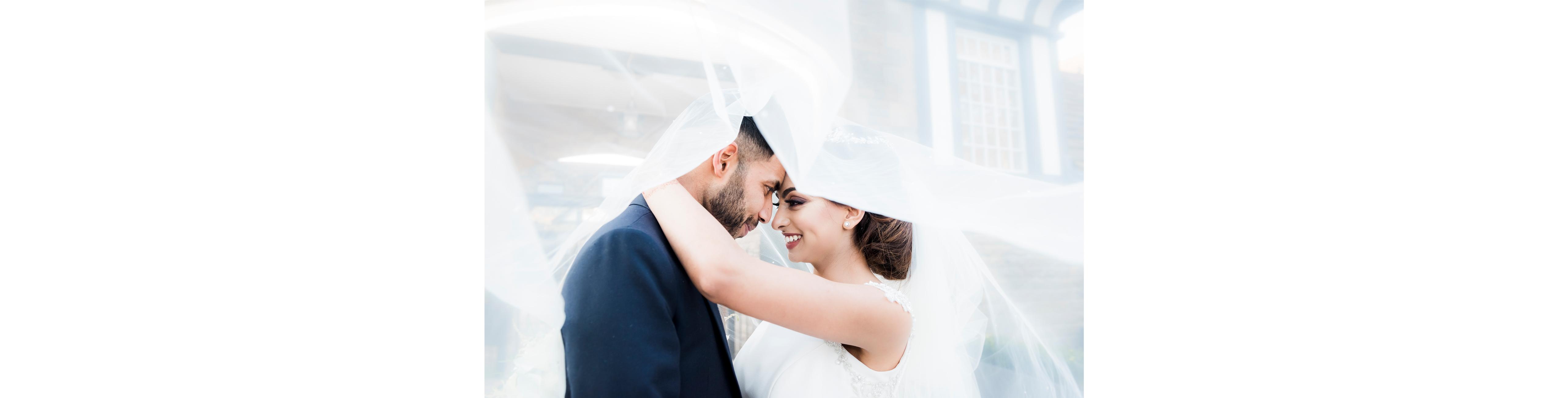 Bridal-veil-Groom-couple